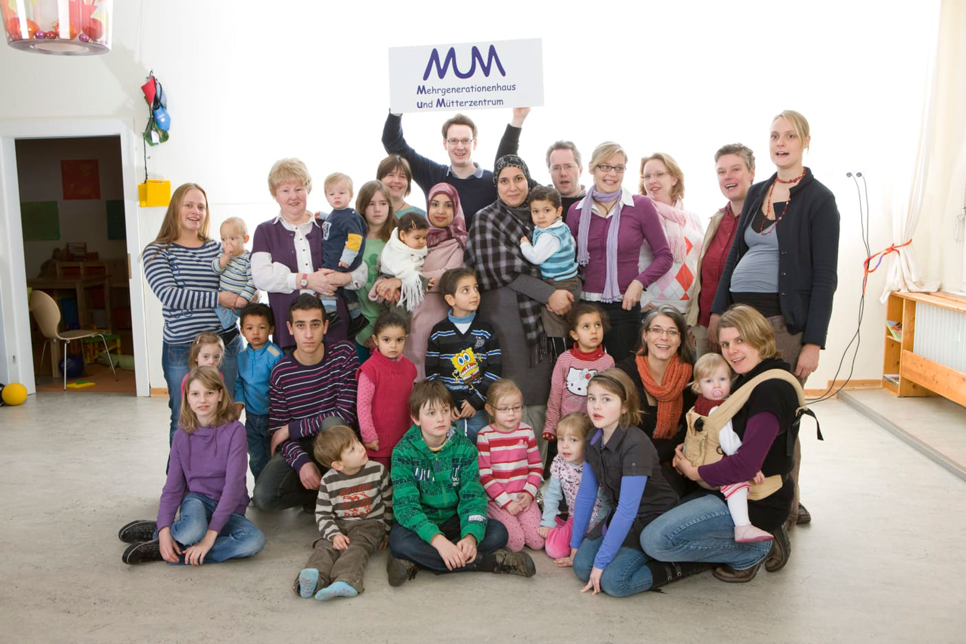 Archiv Gruppenfoto aus Yvonnes Anfängen beim MuM in Münster. Inzwischen ist sie seit 10 Jahren Teil der Gemeinschaft.